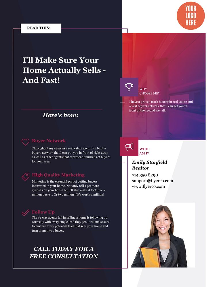 Real Estate Flyer and Postcard Templates by FlyerCo - networking flyers