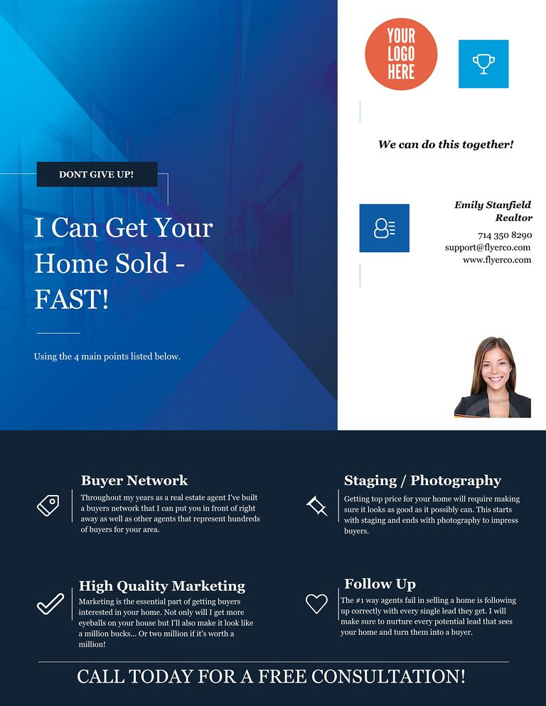 Real Estate Flyer and Postcard Templates by FlyerCo