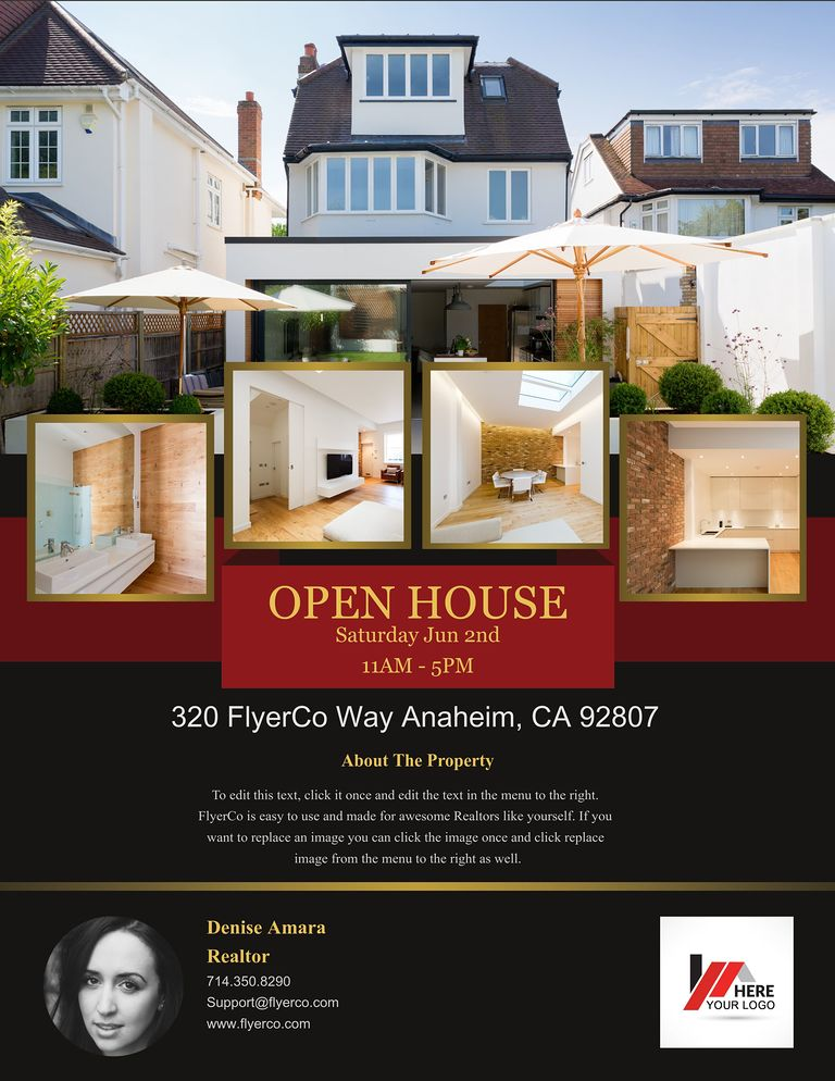 Real Estate Flyer and Postcard Templates by FlyerCo - open house flyer