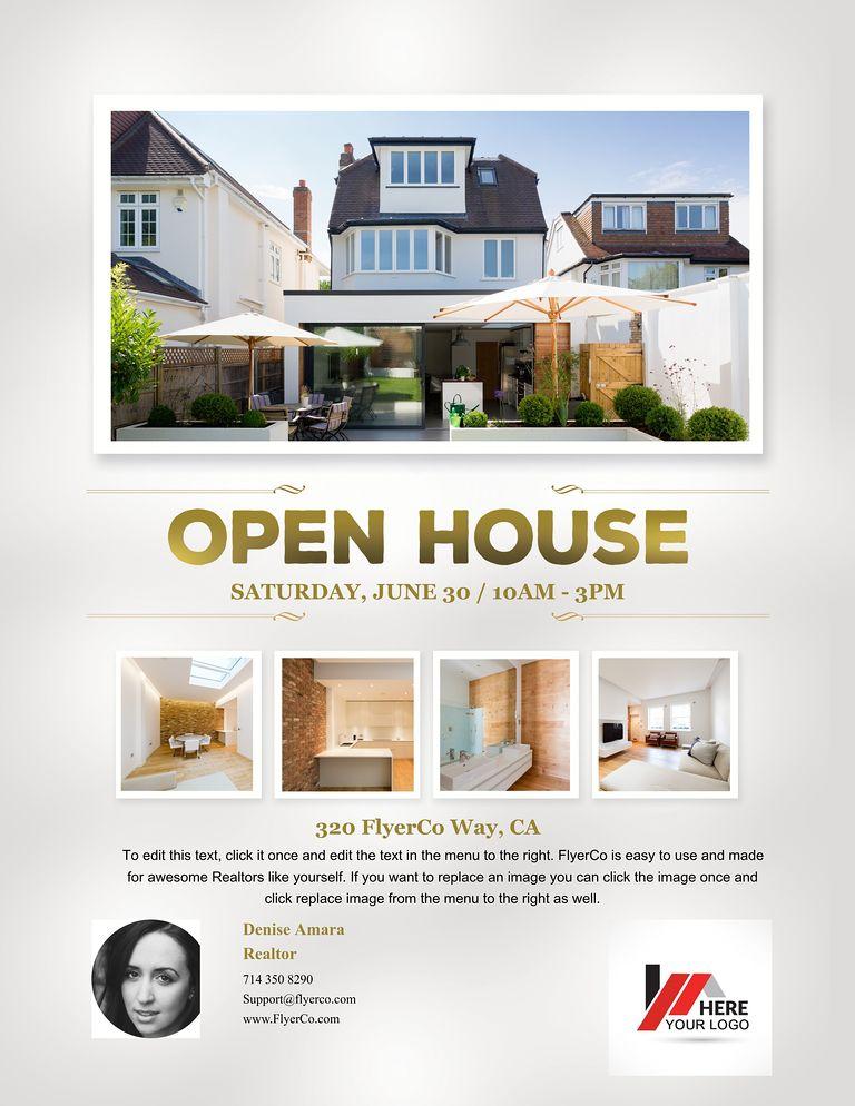 house flyers - Deanroutechoice - open house flyer