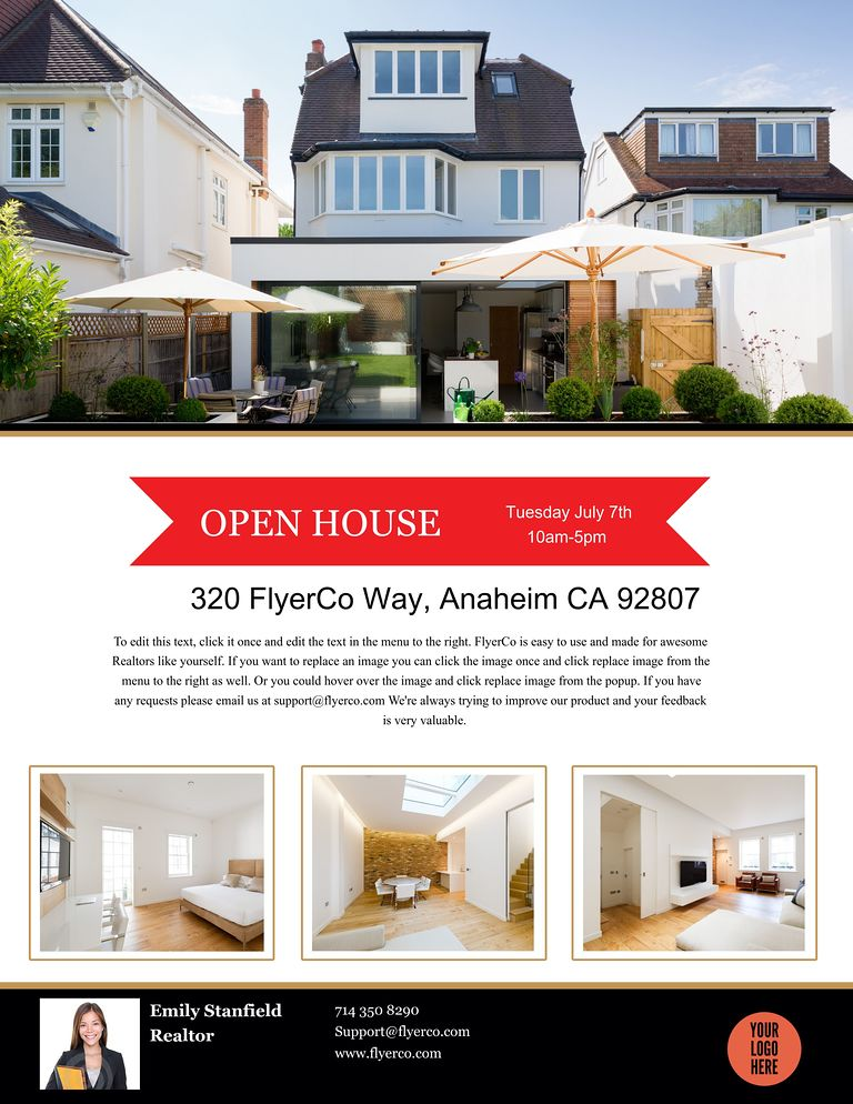 Real Estate Flyer and Postcard Templates by FlyerCo - contemporary flyer