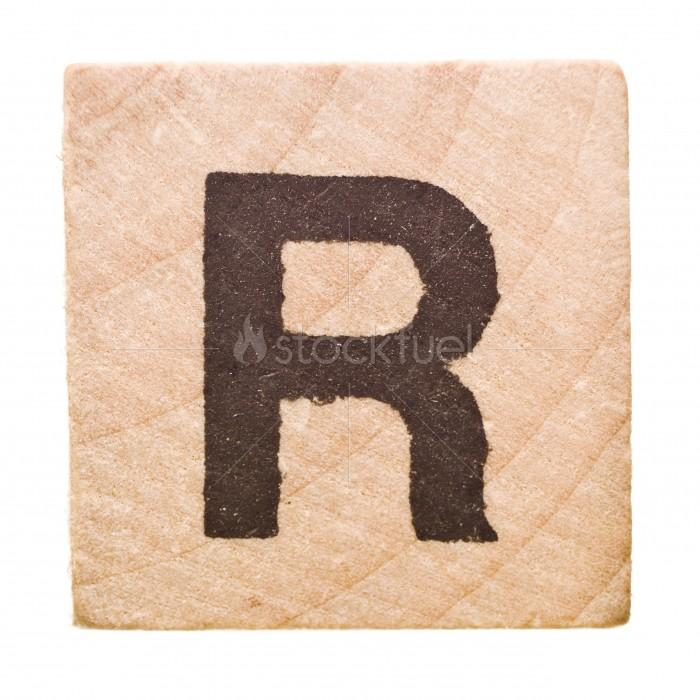 Letter R Block Stock Photo StockFuel