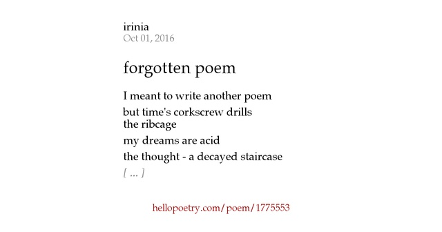 how to write poem
