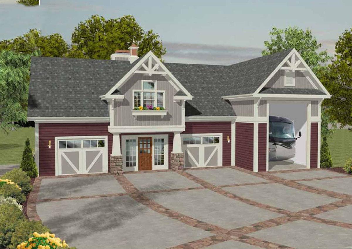 RV Garage with Observation Deck - 20083GA | Architectural Designs - House Plans
