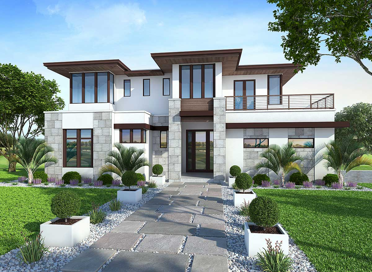 Modern Homes Plans Spacious Upscale Contemporary With Multiple Second Floor