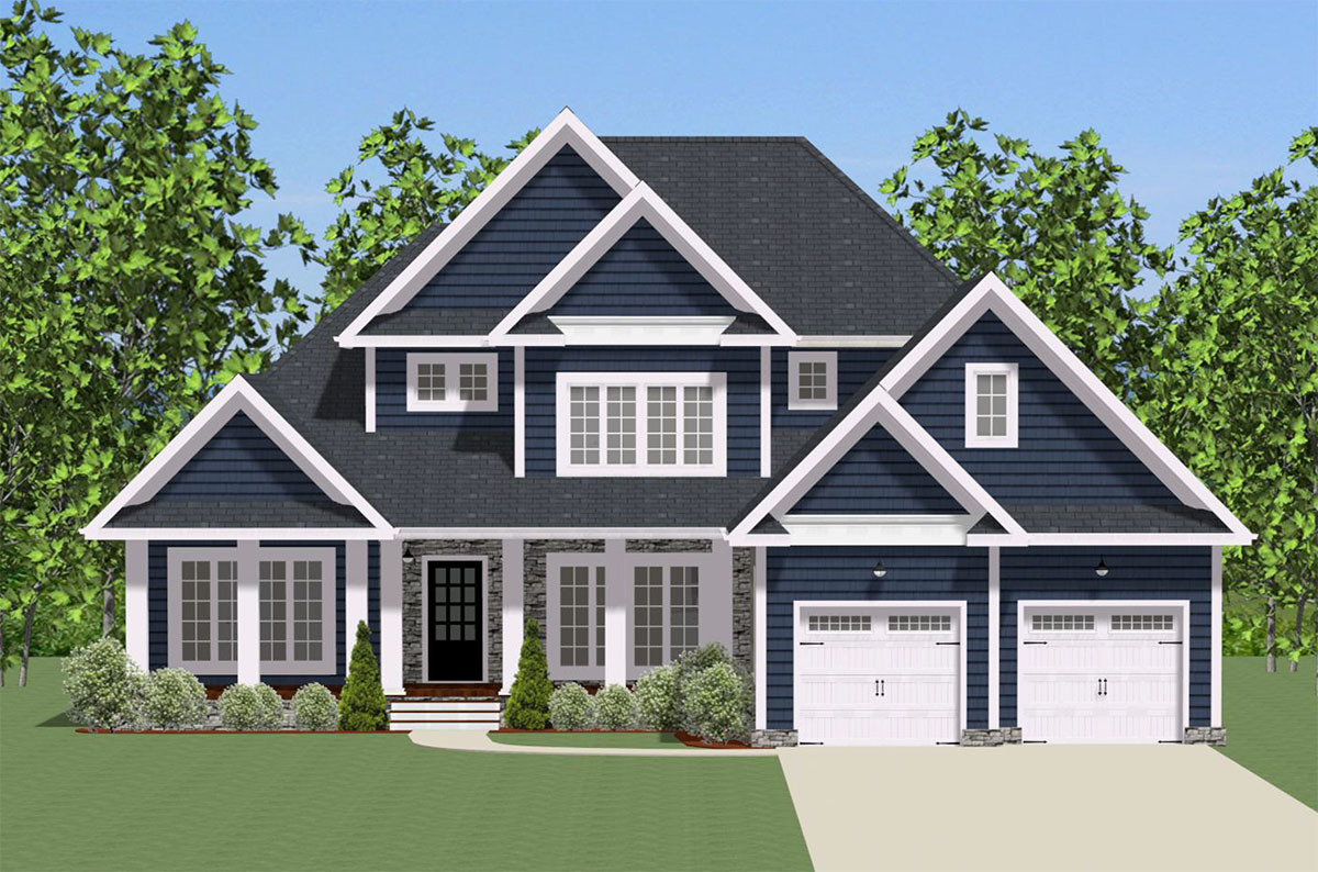 Traditional Home Designs Traditional House Plan With Wrap Around Porch 46293la