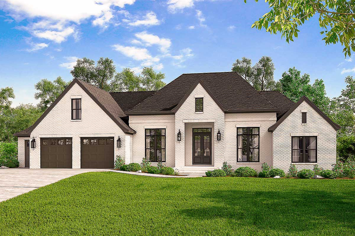 French Country Home Exclusive 4 Bed French Country Home Plan With Optional