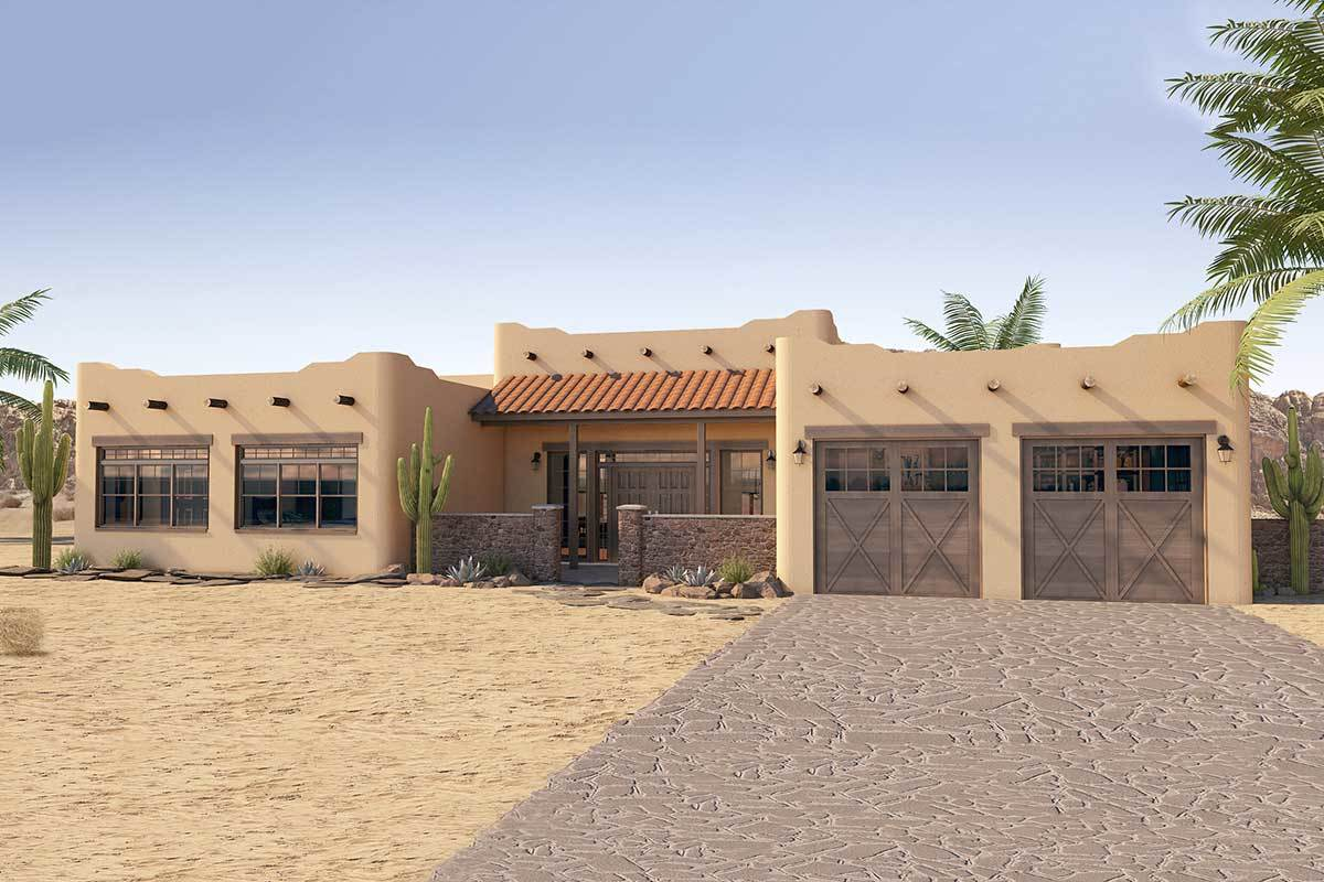 Adobe Home Design Adobe House Plans Architectural Designs