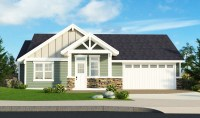 Craftsman with Vaulted Ceilings - 85129MS | Architectural ...