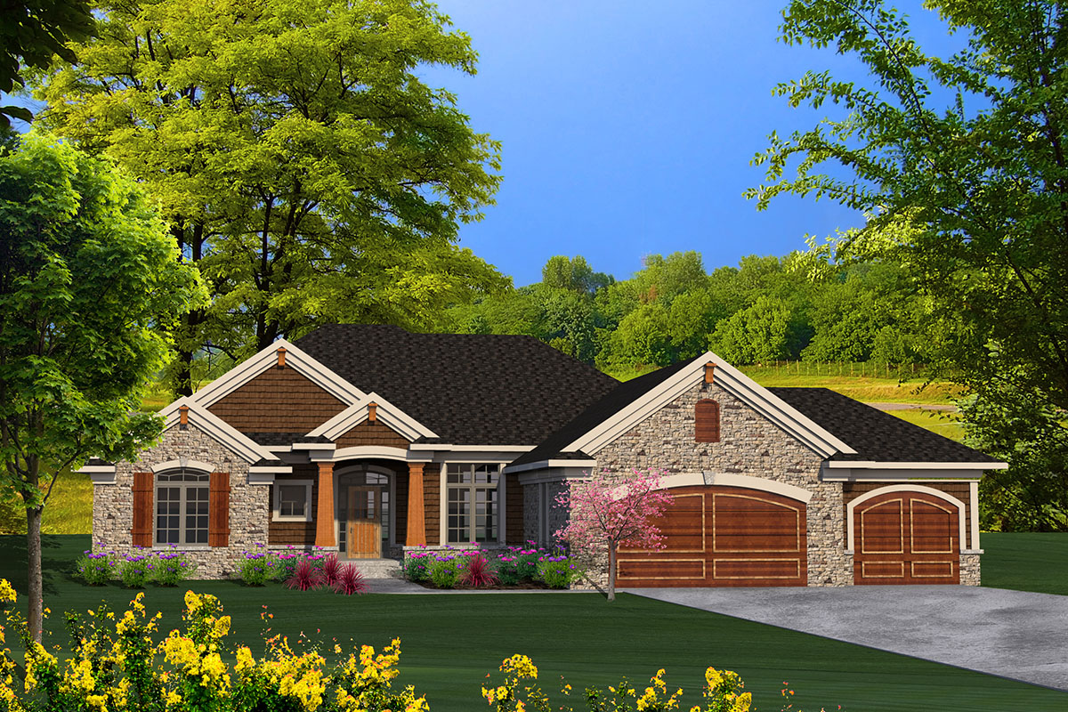 Ranch House Plan with Craftsman Detailing - 89939AH | Architectural Designs - House Plans