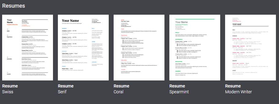 google doc resume template 2 column