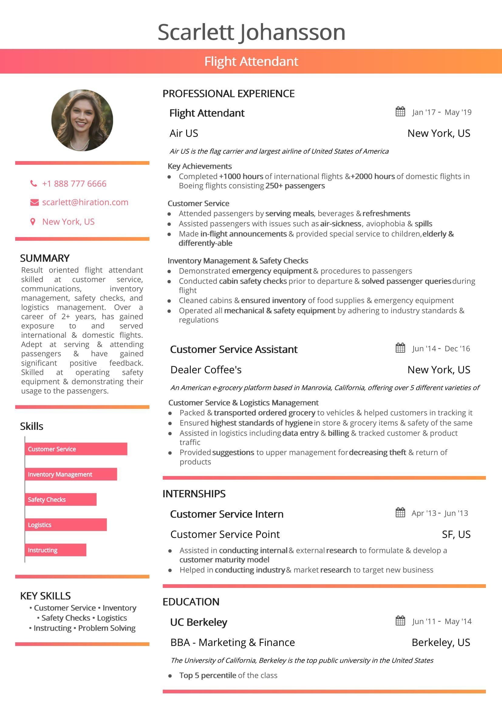 keywords in resume examples