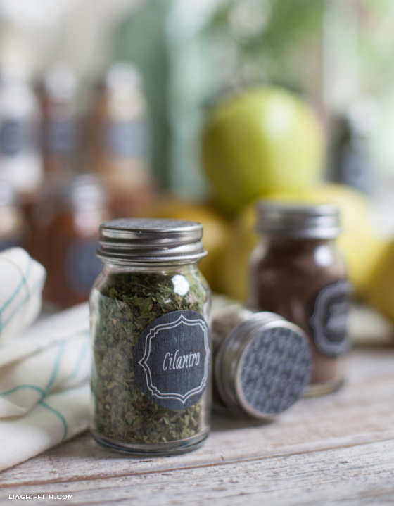 Printable Vintage Herb and Spice Bottle Labels - Lia Griffith