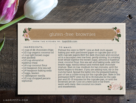 Printable Spring Recipe Cards - recipe card