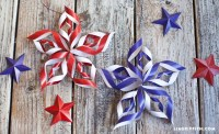 DIY Paper Stars for Fourth of July