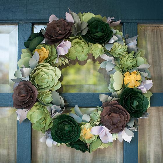 Free Fall Mums Wallpaper Diy Paper Succulent Wreath