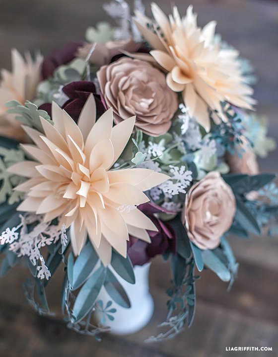cricut paper flower bouquet