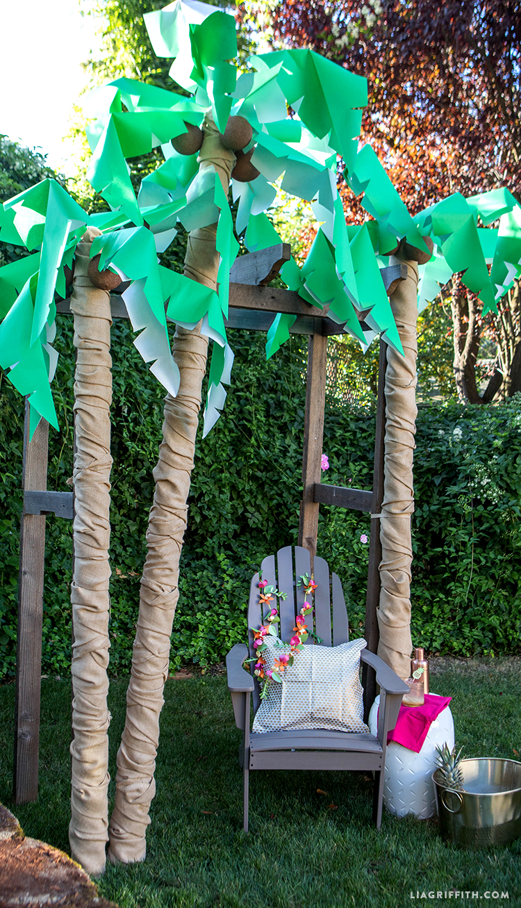 Decoration Anniversaire Hawaii Diy Palm Tree Party Decor Lia Griffith