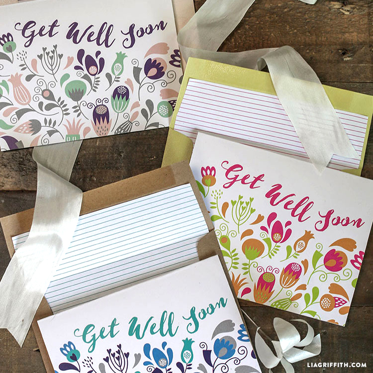 Printable Get Well Soon Cards - Lia Griffith