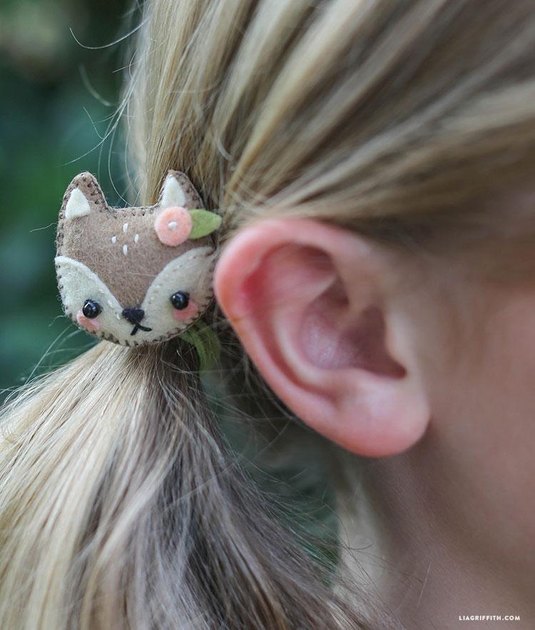 Mini Felt Animal Hair Accessories - Lia Griffith