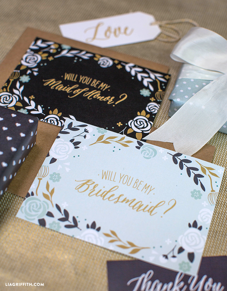 Will You Be My Bridesmaid Cards - Lia Griffith