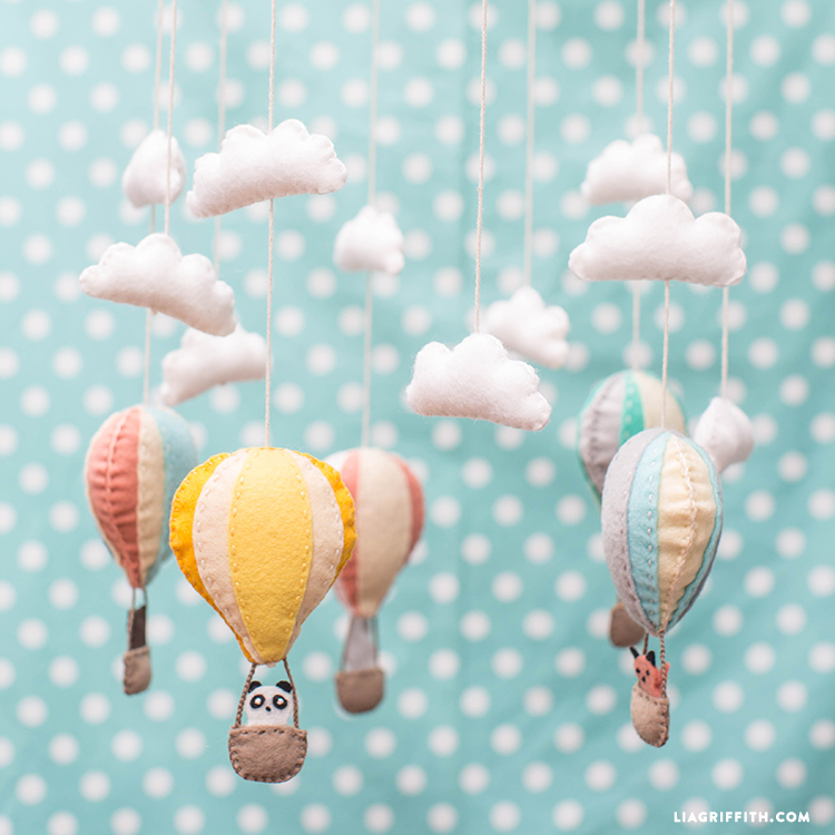 Fall Sunflower Wallpaper Hot Air Balloon Baby Mobile Lia Griffith