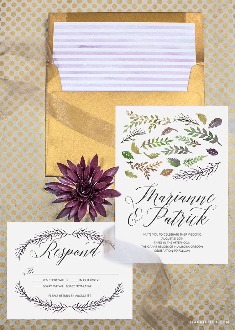 Fullsize Of Fall Wedding Invitations