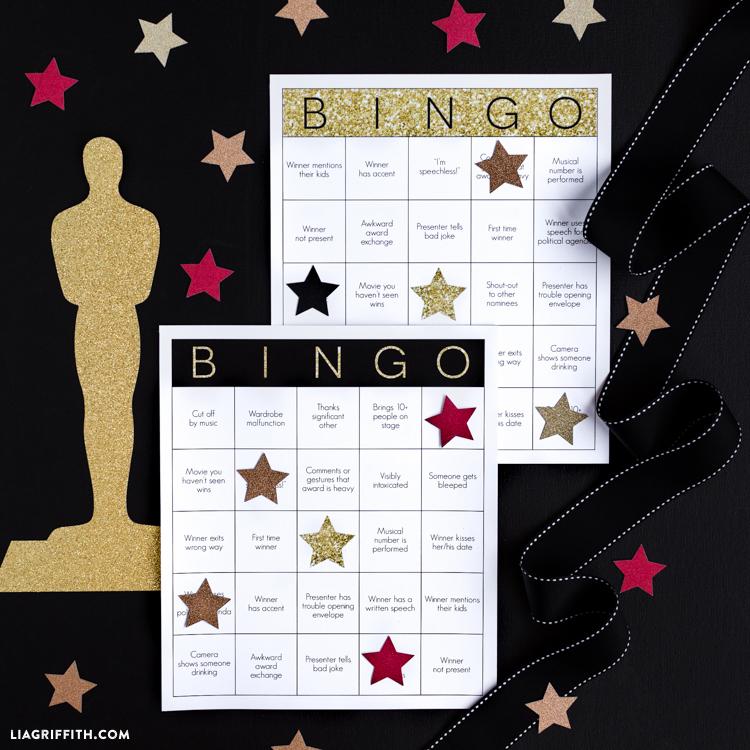 Printable Oscar Bingo Cards - Lia Griffith
