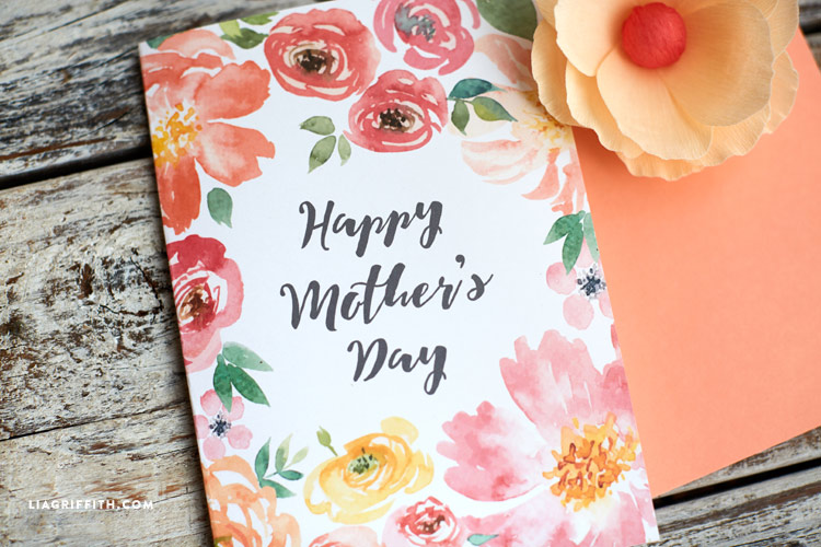 Pretty Printable Mother\u0027s Day Cards designed by Lia Griffith