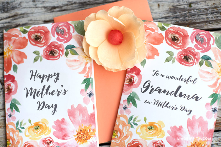 Pretty Printable Mother\u0027s Day Cards designed by Lia Griffith - Mother S Day Cards