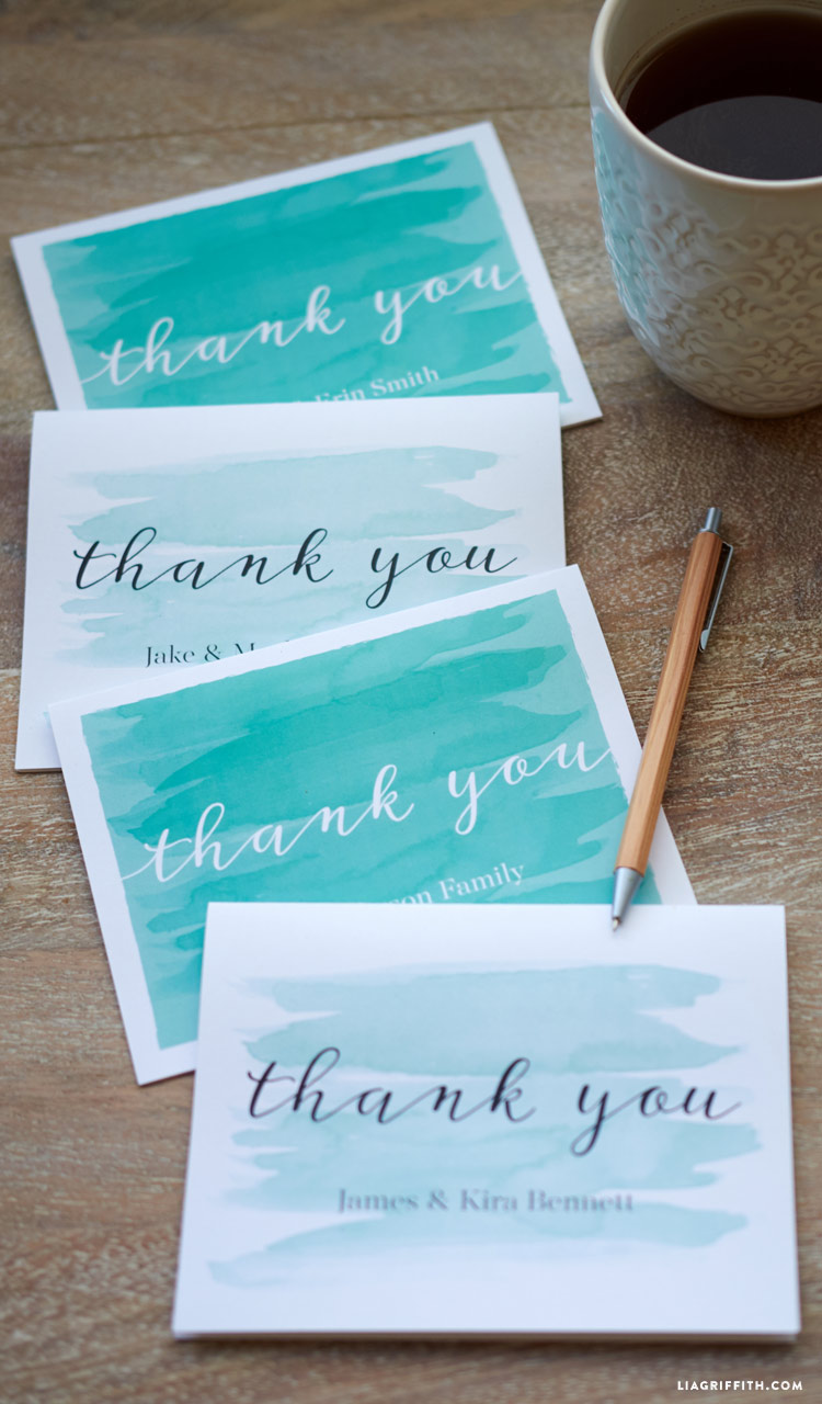 thank you card envelope template