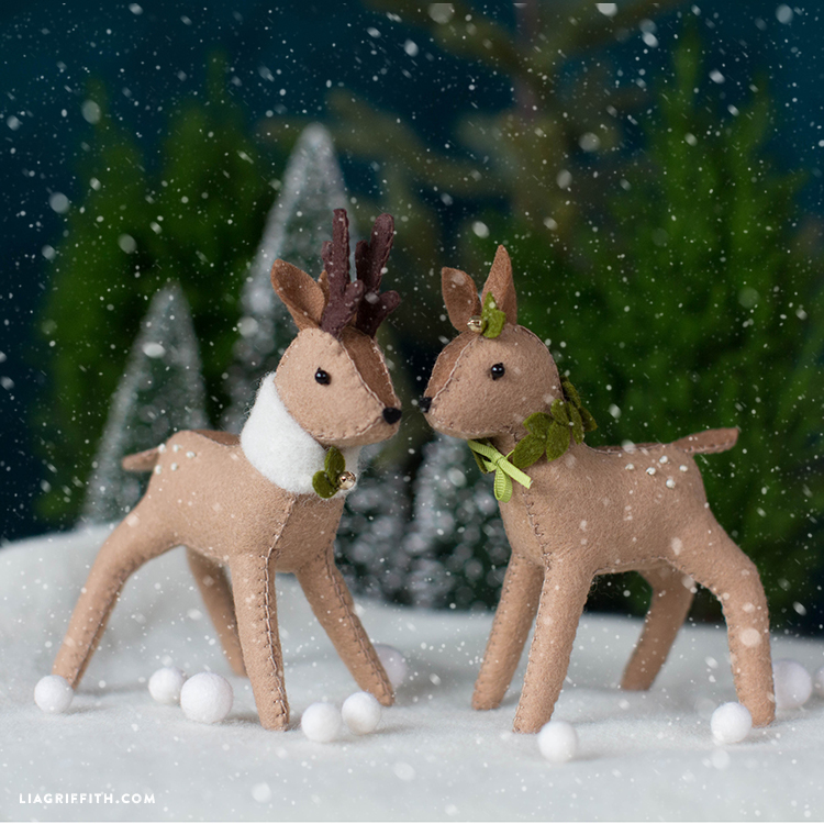 DIY Felt Reindeer Template  Sewing Tutorial Felt Crafts