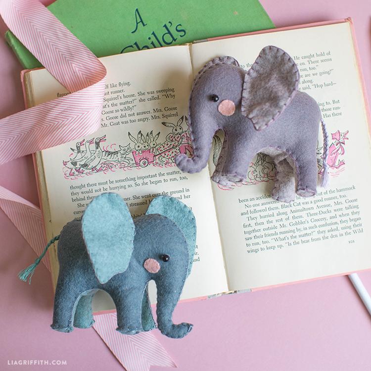 Adorable Felt DIY Elephants -- Tools, Materials, Tutorial and Steps