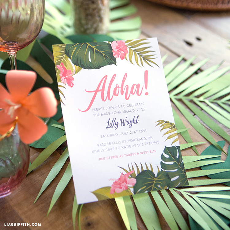 Lu-Wow Your Friends and Family with Tropical Party Invitations!