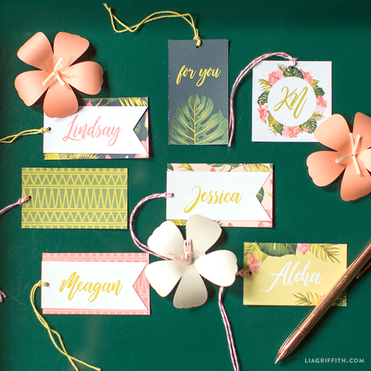 Customize This Tropical Gift Tag Template for All Your Summer Parties!