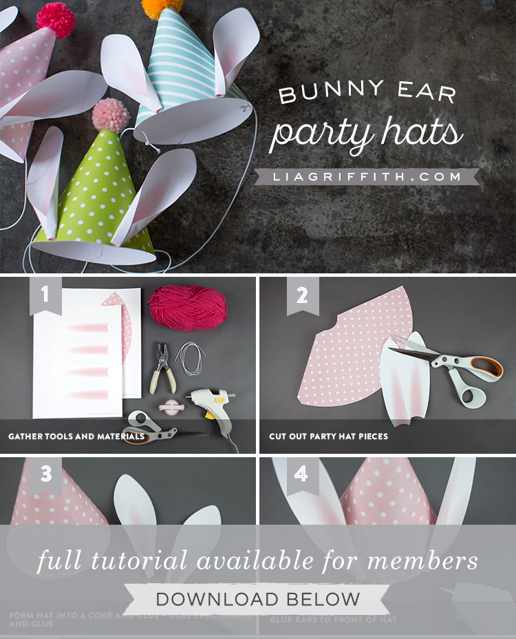 Printable Easter Party Hats for Kids