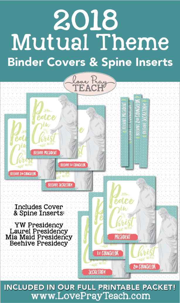 2018 Mutual Theme BINDER COVERS Printable Packet