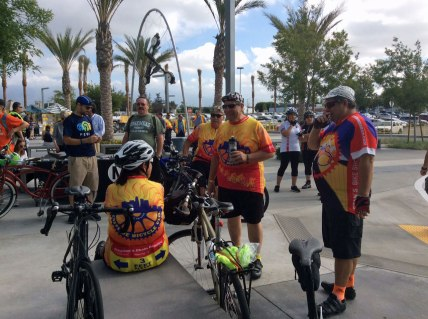 Members of the Eastside Bike Club attend opening event.