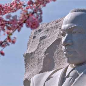 The Dr. Martin Luther King Memorial in West Potomac Park, Washington, D.C. Photo by Ron Cogswell via Flickr/CC.