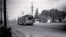 Olive Avenue and Mayflower in Monrovia in Sept. 1951. Photographer: Alan K Weeks.