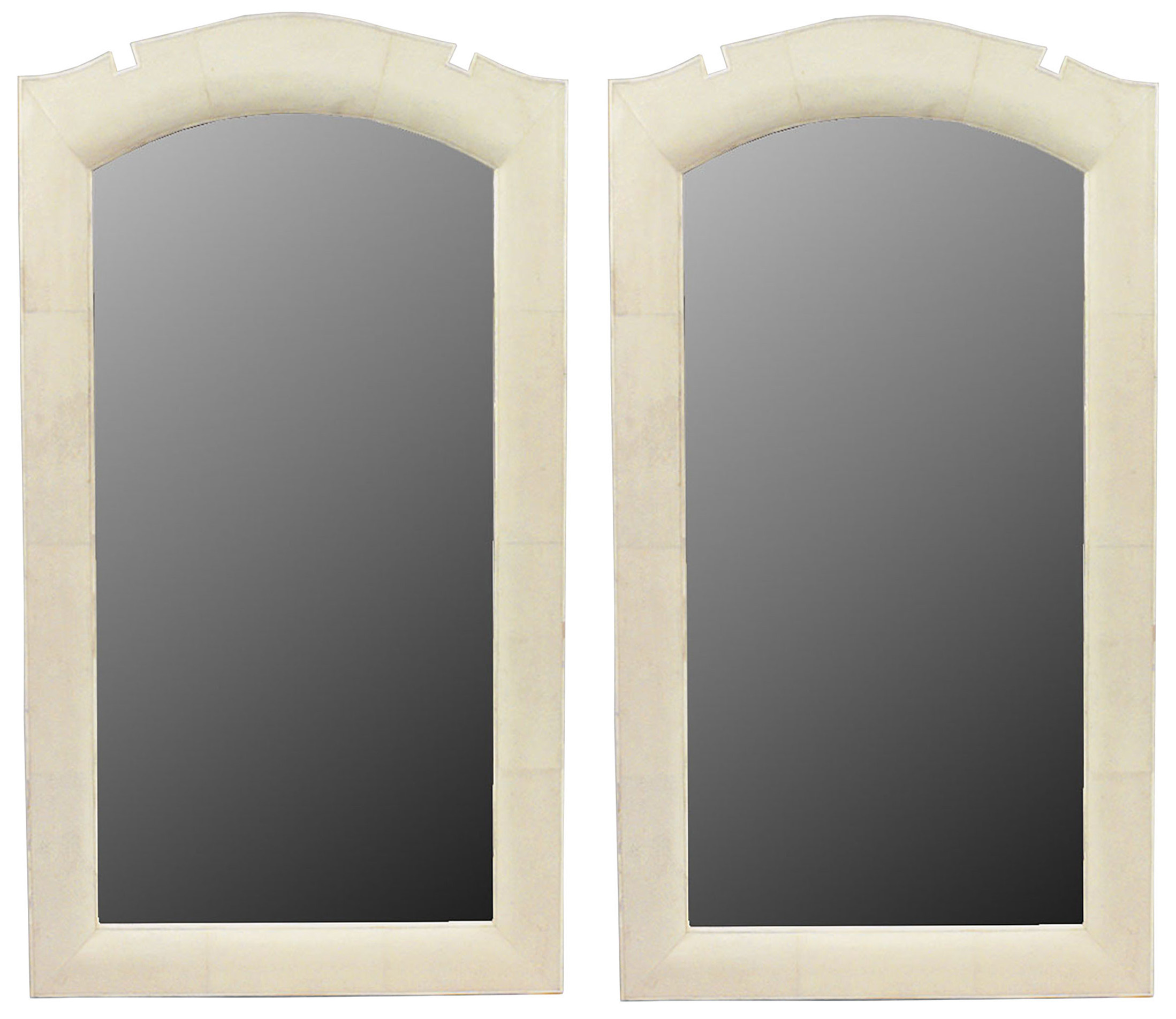 Art Deco Style Mirror French Art Deco Style Beige Shagreen Wall Mirrors Newel