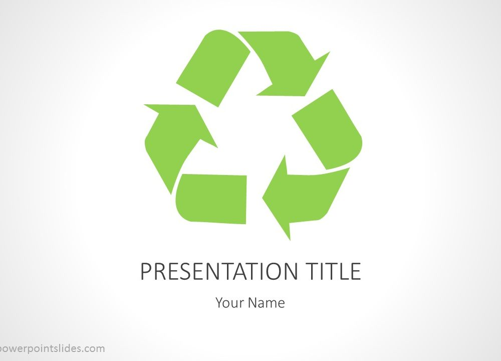 Recycling PowerPoint Background - recycling powerpoint templates