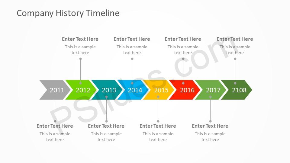 Free Company History PowerPoint Timeline - powerpoint timeline