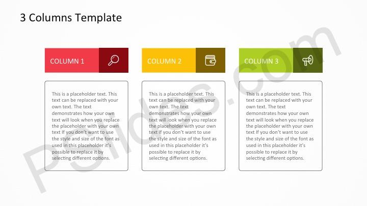 Free 3 Columns PowerPoint Template