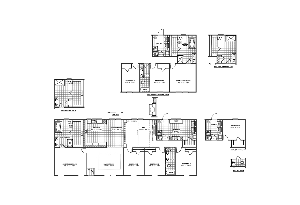Housing Floor Plans Layout Premier Blackjack 32 39 By Clayton Homes Appalachia
