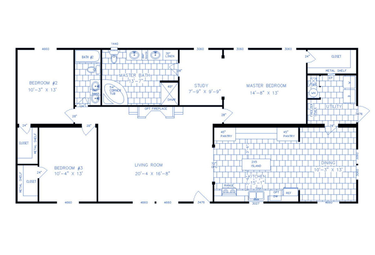 Us Homes Floor Plans Lexington Double Wide The Charleston 2817 By Bourgeois Homes