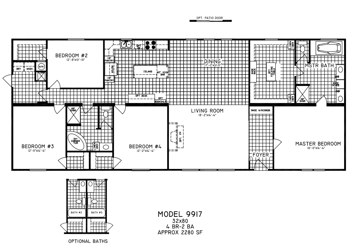 Us Homes Floor Plans Limited Li9917 By Cappaert Manufactured Housing