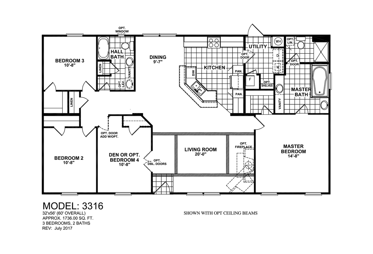 Us Homes Floor Plans Compass Hs3316 By Tandem Home Center