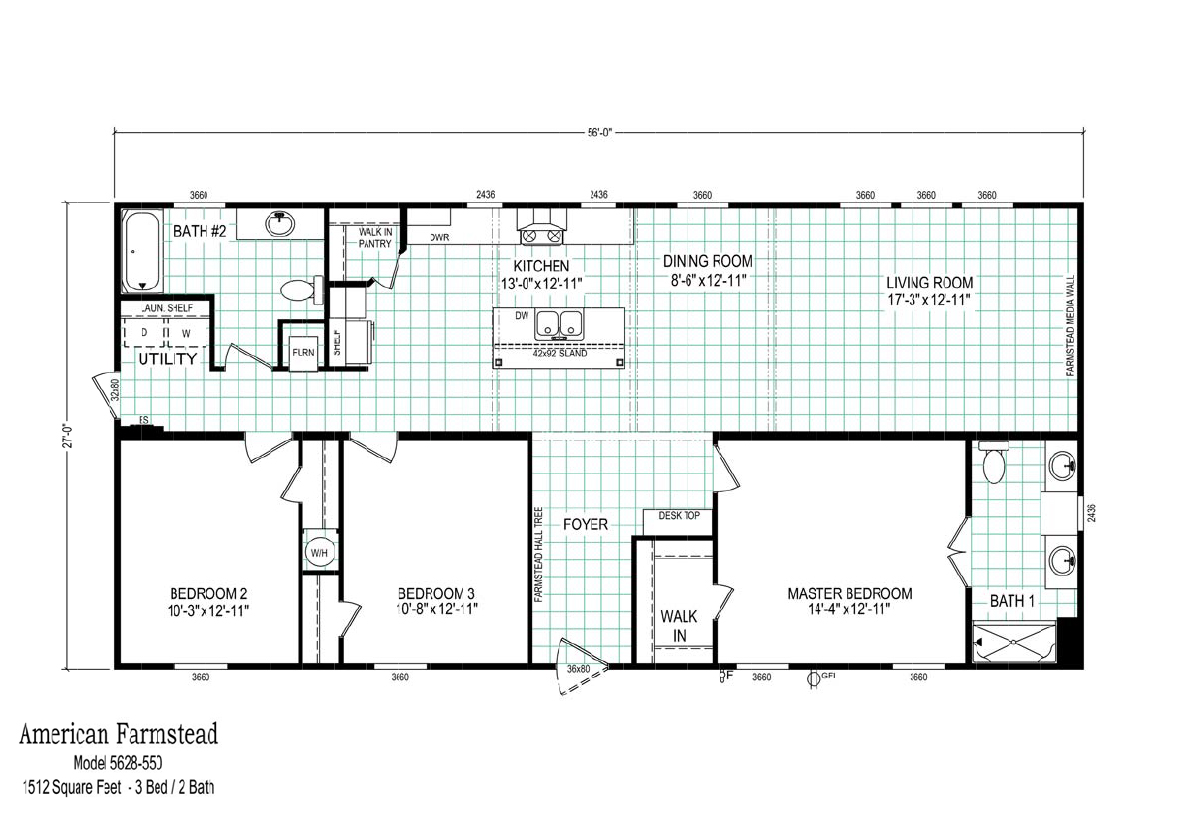 Us Homes Floor Plans American Farmstead 5628 550 By Clayton Homes