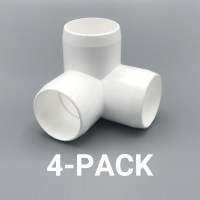 "1-1/4"" inch 3-Way Corner Elbow PVC Fitting Connector - 4 ..."
